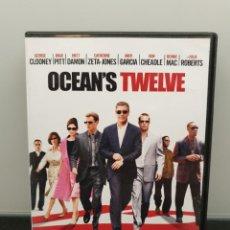 Cine: OCEAN'S TWELVE - DVD. GEORGE CLOONEY, BRAD PITT, MATT DAMON, JULIA ROBERTS.... Lote 219345701