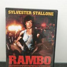 Cine: RAMBO ACORRALADO - DVD. SYLVESTER STALLONE.. Lote 219611783