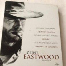 Cine: DVD- CLINT EASTWOOD - 6 PELICULAS - ESTUCHE METALICO NUEVO. Lote 219854018