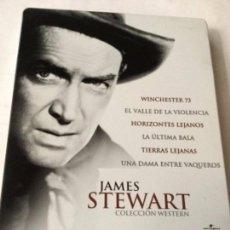 Cine: DVD- JAMES STEWART - 6 PELICULAS - ESTUCHE METÁLICO. Lote 219854378