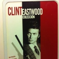 Cine: CLINT EASTWOOD - 6 DVD -METÁLICA-(SIN PERDÓN-MYSTIC RIVER- MEDIANOCHE ..- PUENTES MADISON- MUNDO PER. Lote 219854728