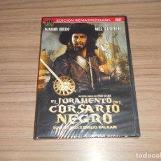 Cine: EL JURAMENTO DEL CORSARIO NEGRO EDICION REMASTERIZADA DVD NUEVA PRECINTADA. Lote 288867323