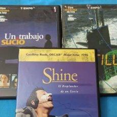 Cine: LOTE DE 3 PELICULAS - SHINE & UN TRABAJO SUCIO & NAUTILUS. Lote 220240763