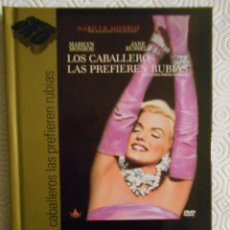 Cine: LOS CABALLEROS LAS PREFIEREN RUBIAS. LIBRO DVD DE LA PELICULA DE HOWARD HAWKS. CON MARILYN MONROE, J. Lote 221307860