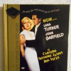 Cine: EL CARTERO SIEMPRE LLAMA DOS VECES. LIBRO DVD DE LA PELICULA DE TEY GARNETT. CON LANA TURNER, JOHN G. Lote 221308327
