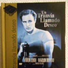 Cine: UN TRANVIA LLAMADO DESEO. LIBRO DVD DE LA PELICULA DE VIVIEN LEIGH, MARLON BRANDO, KIM HUNTER, KARL. Lote 221308407