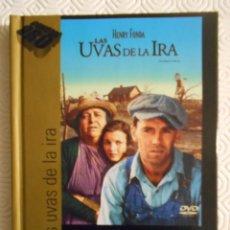 Cine: LAS UVAS DE LA IRA. LIBRO DVD DE LA PELICULA DE JOHN FORD. CON HENRY FONDA, JANE DARWELL, JOHN CARRA. Lote 221309590