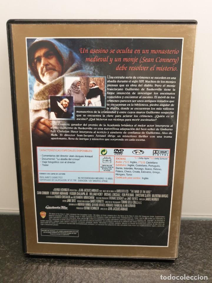 Cine: El Nombre de la Rosa - DVD. Sean Connery, Christian Slater, Ron Perlman. - Foto 2 - 221434246