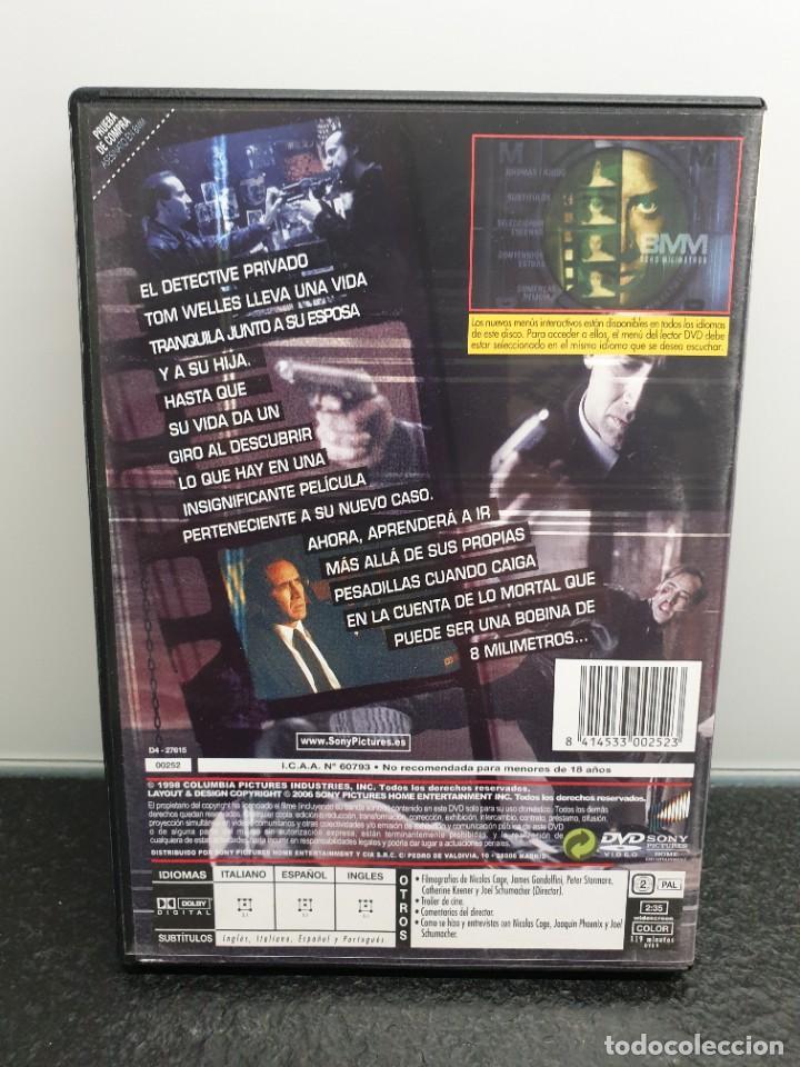 Cine: Asesinato en 8mm. - DVD. Nicolas Cage, Joaquin Phoenix, James Gandolfini, Joel Schumacher. - Foto 2 - 221434281