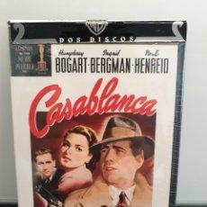 Cinema: CASABLANCA - DVD NUEVO PRECINTADO 2 DISCOS. HUMPHREY BOGART, INGRID BERGMAN (ENVÍO 2,40€). Lote 221483657