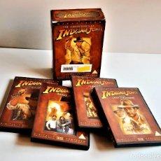 Cine: DVD PELECULAS COLECCION COMPLETA INDIANA JONES ALBUM 4 DVDS. Lote 221492285