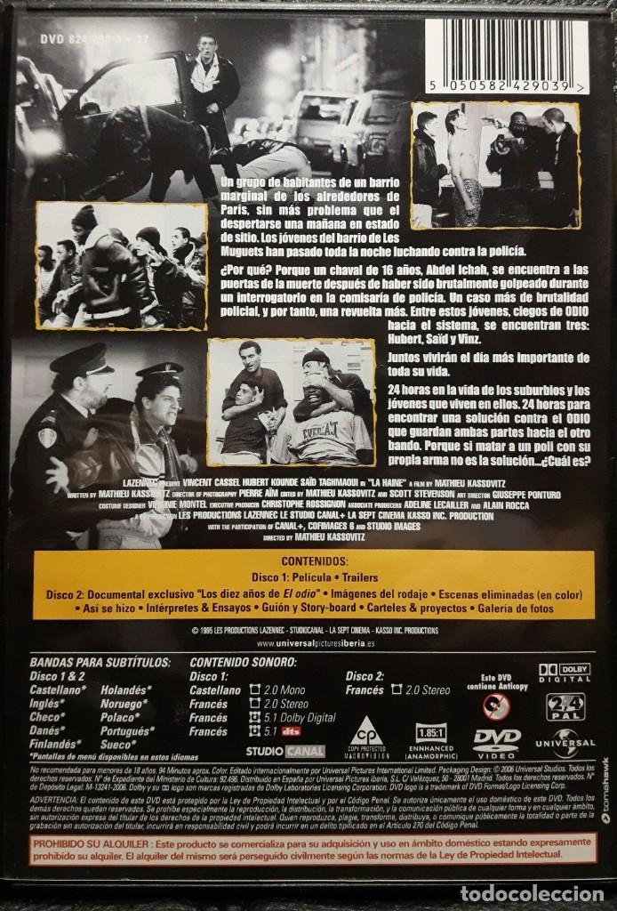 Cine: EL ODIO - DVD - EDICION ESPECIAL 2 DISCOS - VINCENT CASSEL - MATHIEU KASSOVITZ - NO USO CORREOS - Foto 2 - 221598390