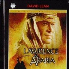 Cine: LAWRENCE DE ARABIA (DVD + LIBRO 43 PAG) DIRECTOR: DAVID LEAN ACTORES: ALEC GUINNESS, PETER O´TOOLE. Lote 221651336