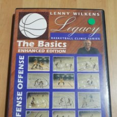 Cine: THE BASIS. ENHANCED EDITION. DEFENSE OFFENSE (LENNY WILKENS) BASKETBALL CLINIC SERIES (DVD). Lote 221724323