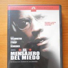 Cine: DVD EL MENSAJERO DEL MIEDO - DENZEL WASHINGTON, MERYL STREEP (IM). Lote 221900188