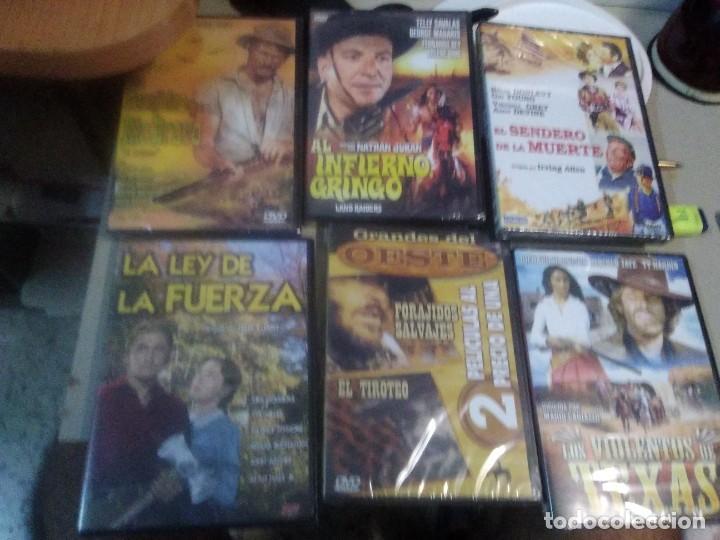 LOTE DE 6 DVD PRECINTADOS PELÍCULAS CLÁSICAS DEL OESTE (Cine - Películas - DVD)