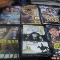 Cine: LOTE DE 6 DVD PRECINTADOS PELÍCULAS CLÁSICAS DEL OESTE. Lote 221926091