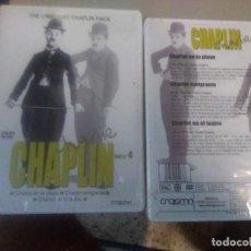 Cine: CHARLIE CHAPLIN DVD Nº 4 : CHARLOT EN LA PLAYA + CHARLOT EMIGRANTE + CHARLOT EN EL TEATRO. Lote 221926725