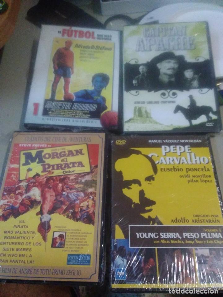 4 DVD PELÍCULAS SAETA RUBIA, MORGAN EL PIRATA, CAPITÁN APACHE, PEPE CARVALHO (Cine - Películas - DVD)