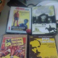 Cine: 4 DVD PELÍCULAS SAETA RUBIA, MORGAN EL PIRATA, CAPITÁN APACHE, PEPE CARVALHO. Lote 221927018