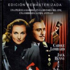 Cine: SER O NO SER - ERNST LUBITSCH - CAROLE LOMBARD (PRECINTADA). Lote 221969387