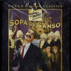 Cine: SOPA DE GANSO - LEO MCCAREY - HERMANOS MARX (PRECINTADA). Lote 221969521