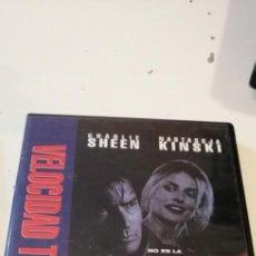 Cine: G-46 DVD CINE VELOCIDAD TERMINAL CHARLIE SHEEN NASTASSJA KINSKI. Lote 221970153