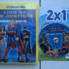 Cine: LA LIGA DE LA JUSTICIA ORIGENES SECRETOS WARNER KIDS - PELICULA DVD KREATEN. Lote 222394355