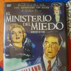 Cine: EL MINISTERIO DEL MIEDO CON RAY MILLAND Y DIRIGIDA POR EL GRANDÍSIMO FRITZ LANG. Lote 222394745