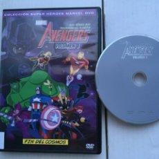 Cine: AVENGERS VOLUMEN 8 COLECCION SUPER HEROES MARVEL FIN DEL COSMOS - PELICULA DVD KREATEN. Lote 222395142