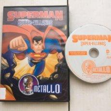 Cine: SUPERMAN SUPER VILLANOS DC COMICS METALLO SUPER MAN - PELICULA DVD KREATEN. Lote 222395240