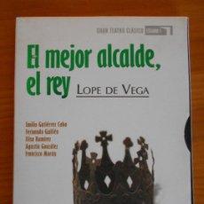 Cine: DVD EL MEJOR ALCALDE, EL REY - LOPE DE VEGA - GRAN TEATRO CLASICO ESTUDIO 1 (IA). Lote 222422808