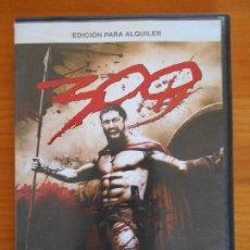 Cine: DVD 300 - EDICION DE ALQUILER - LEER DESCRIPCION (IA). Lote 222434510