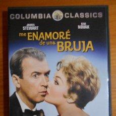 Cine: DVD ME ENAMORE DE UNA BRUJA - JAMES STEWART, KIM NOVAK (FI). Lote 222582921