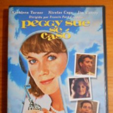 Cine: DVD PEGGY SUE SE CASO - COPPOLA - KATHLEEN TURNER, NICOLAS CAGE, JIM CARREY (FI). Lote 222583206