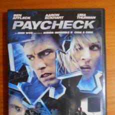 Cine: DVD PAYCHECK - BEN AFFLECK, AARON ECKHART, UMA THURMAN (FI). Lote 222583521