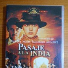 Cine: DVD PASAJE A LA INDIA - JUDY DAVIS, JAMES FOX, ALEC GUINNESS, DAVID LEAN (HX). Lote 222584391
