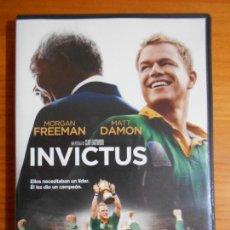 Cine: DVD INVICTUS - MORGAN FREEMAN, MATT DAMON, CLINT EASTWOOD (HX). Lote 222584771
