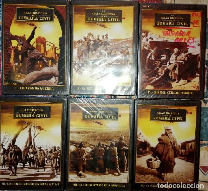 LOTE 6 DVD LA GRAN HISTORIA DE LA GUERRA CIVIL (Cine - Películas - DVD)