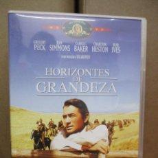 Cine: DVD - HORIZONTES DE GRANDEZA - GREGORY PECK / HESTON - PEDIDO MINIMO DE 10€. Lote 222873153