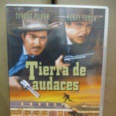 Cine: DVD - TIERRA DE AUDACES - TYRONE POWER / HENRY FONDA - PEDIDO MINIMO DE 10€. Lote 222873880