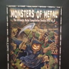 Cine: MONSTERS OF METAL - THE ULTIMATE METAL COMPILATION VOLUMEN 5 - DOBLE DVD PEPETO. Lote 223043278