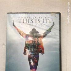 Cine: MICHAEL JACKSON THIS IS IT DISCOVER THE MAN YOU NEVER KNEW PRECINTADO NUEVO - PELICULA DVD KREATEN. Lote 223959590