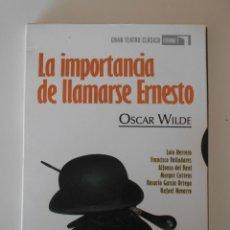 Cine: LA IMPORTANCIA DE LLAMARSE ERNESTO. OSCAR WILDE. DVD RTVE. GRAN TEATRO CLASICO. ESTUDIO 1. CON LOLA. Lote 224032160