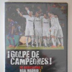 Cine: GOLPE DE CAMPEONES. FC BARCELONA 1 - REAL MADRID 2. 21 DE ABRIL 2012. DVD NUEVO A ESTRENAR. ESTUCHE. Lote 224033900
