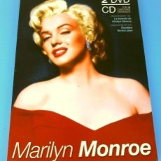 Cinema: MARILYN MONROE - PACK 2 DVDS Y 1 CD (16 CANCIONES) FILM GOODBYE NORMA JEAN Y DOCUMENTAL BIOGRAFICO. Lote 224076042