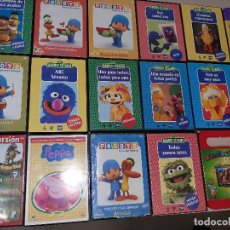 Cine: 17 DVD INFANTILES POCOYO Y BARRIOSESAMO. Lote 224423661