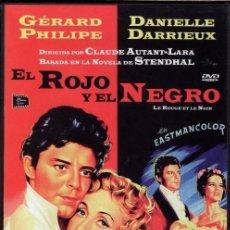 Cine: EL ROJO Y EL NEGRO DVD (2.DVD - BASADA EN UNA NOVELA DEL AUTOR STENDHAL ...APASIONANTE !. Lote 274218788