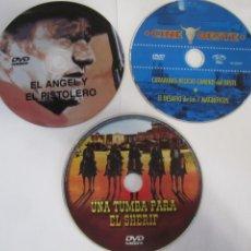 Cine: LOTE 3 DVD WESTERN EL ANGEL Y EL PISTOLERO UNA TUMBA PARA EL SHERIF CINE OESTE. Lote 224692066