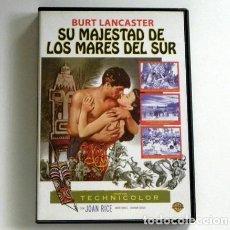Cine: SU MAJESTAD DE LOS MARES DEL SUR DVD PELÍCULA SUSPENSE AVENTURA BURT LANCASTER JOAN RICE ISLA BARCO. Lote 225131101